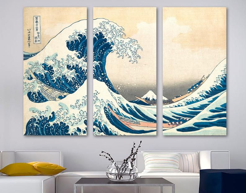 The Great Wave Off Kanagawa Canvas Print Classical Japanese Etsy In 2020 Custom Wall Art Wall Art Canvas Prints Wall Art Prints