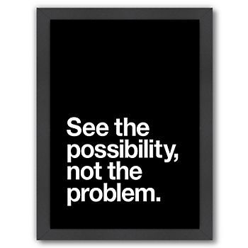 Americanflat See The Possibility Not The Problem Framed Wall Art Kohls Framed Wall Art Americanflat Typography Wall Art