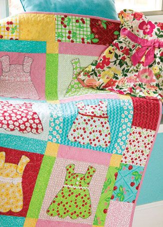 Doll dresses quilt, good to use all those baby clothes you are ... : doll dress quilt - Adamdwight.com