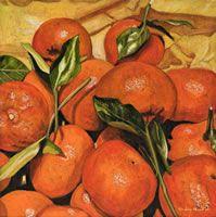 Mandarinas, 2011, óleo/lino, 50 X 50 cm