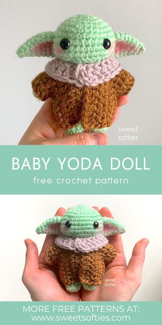 Baby Yoda Inspired Amigurumi (Free Crochet Pattern)