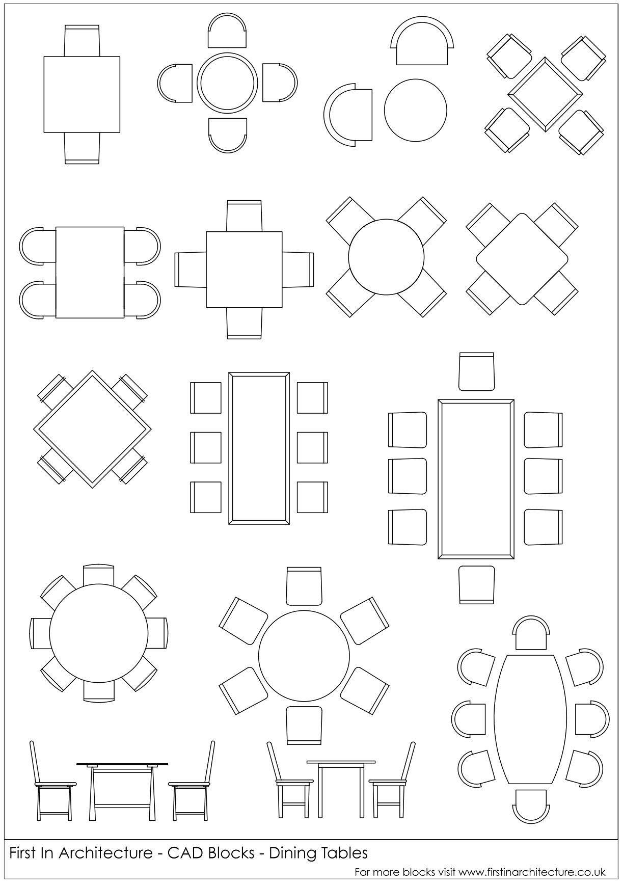 Fia Cad Blocks Dining Tables Jpg 1 223 1 737 Pixels Architect  -> Blocos Cad Sala De Estar