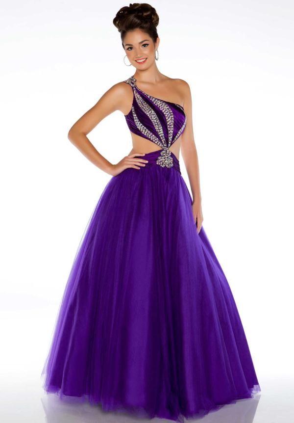 This purple prom dress by21 | Moda | Pinterest | Vestido morado ...