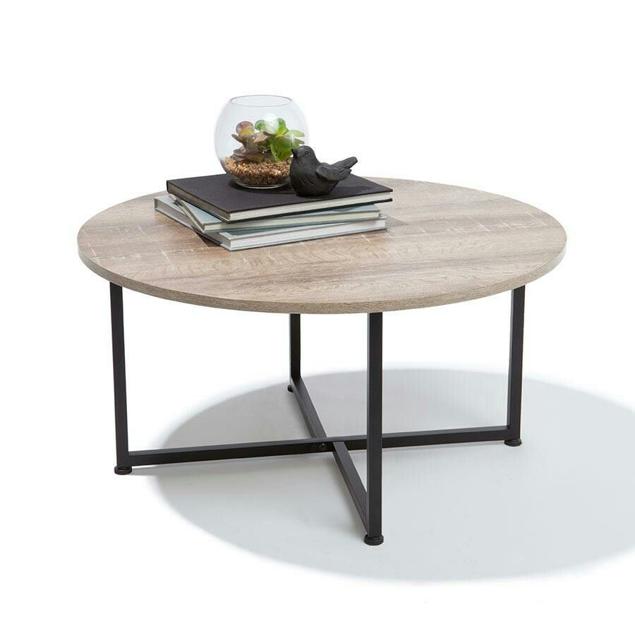 Slim round end table modern accent table with drawer calvin end table - Marble Look Table Homemaker
