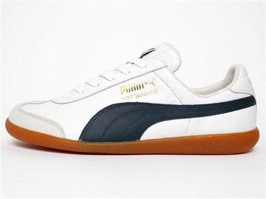 Puma Top Winner – White/Navy