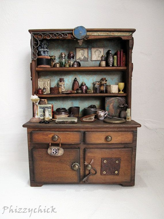 Wizards Cupboard By Phizzychick Miniatures Cupboard