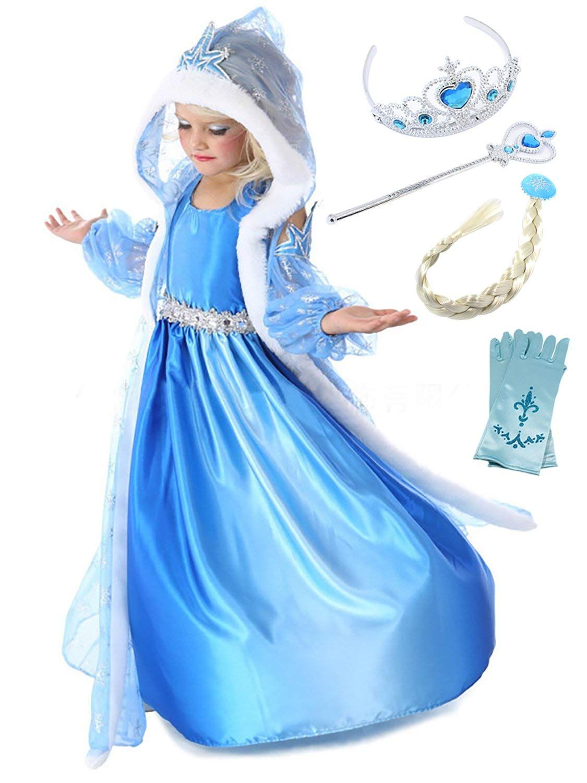 Frozen 2 Eiskönigin Prinzessin Elsa Anna Kleidung Kinder Party Mädchen Halloween