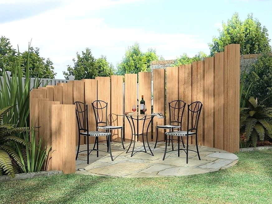 Diy Privacy Fence Transitional Outdoor Design With Unique Privacy