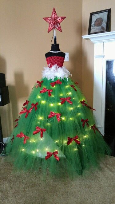 Christmas Tutu Tree Christmas Tree Dress Christmas Tutu Dress Form Christmas Tree