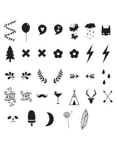 Símbolos Lightbox Boxligth Tatuajes Temporales Dibujos Y