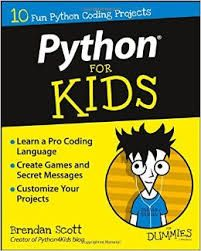 Python for kids for dummies by Brendan Scott.  This book is packed with approachable, bite-sized projects that won't make you lose your cool, this fun and friendly guide teaches the basics of coding with Python in a language you can understand. In no time, you'll be installing Python tools, creating guessing games, building a geek speak translator, making a trivia game, constructing a Minecraft chat client, and so much more  #geekread
