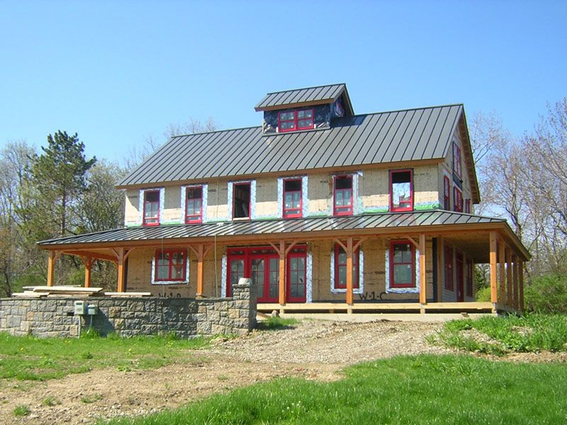 Depiction Of Brand New Pole Barn House For Appealing And