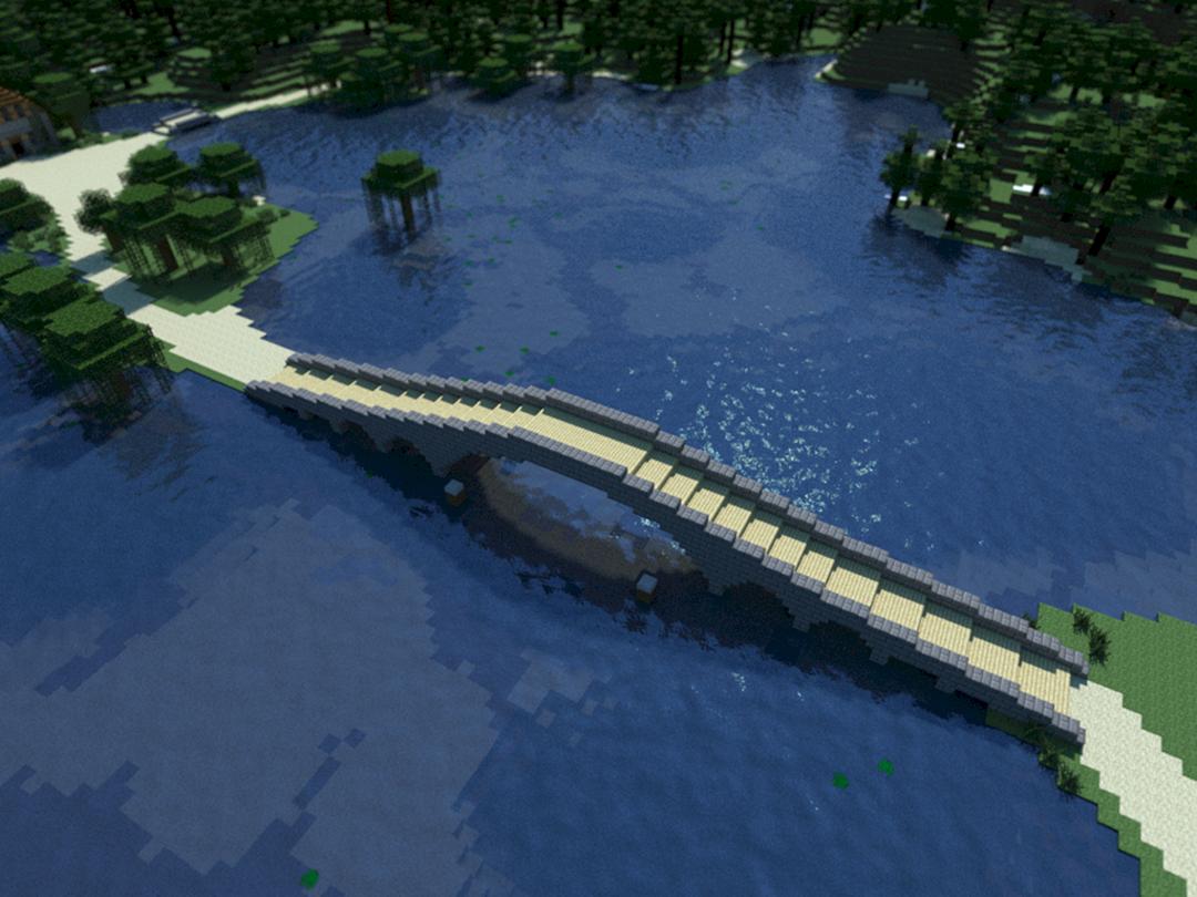 Мост в майнкрафте постройка
