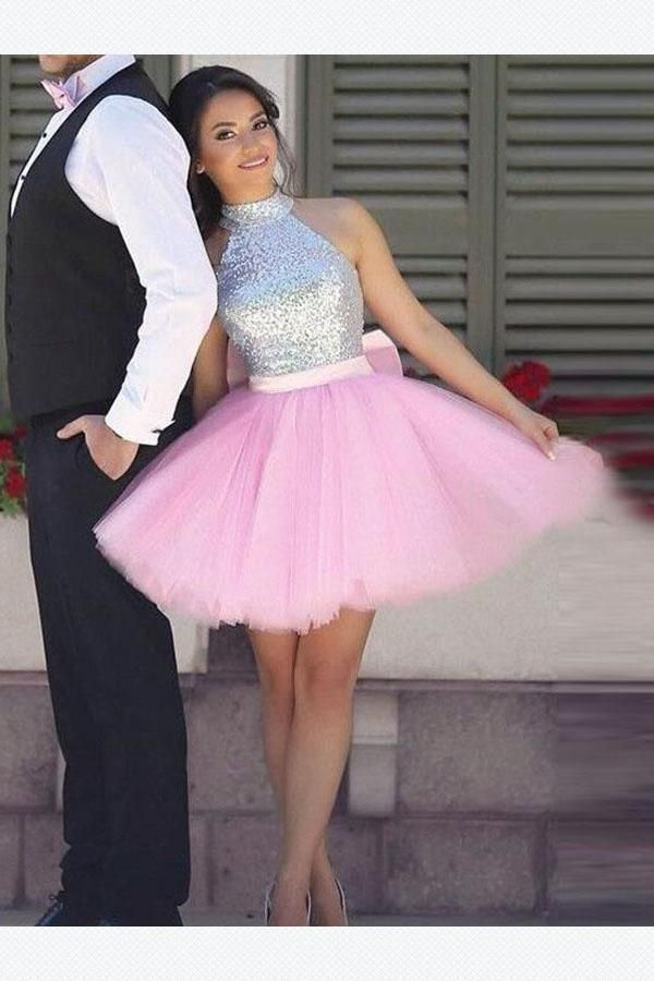 8d4a1730e78 Strapless Short Pink Tulle Homecoming Dress