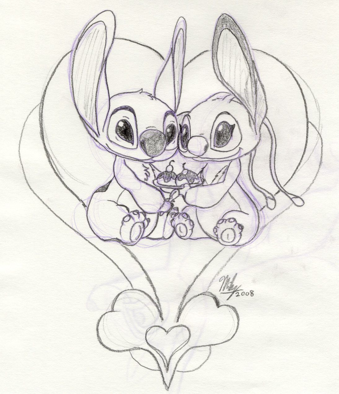 Angel and Stitch  Stitch and angel, Angel sketch, Lilo and stitch