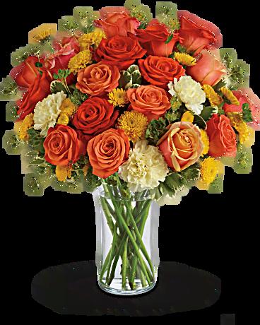Citrus Kissed Bouquet Flower Delivery Summer Flower Bouquet Late Summer Flowers