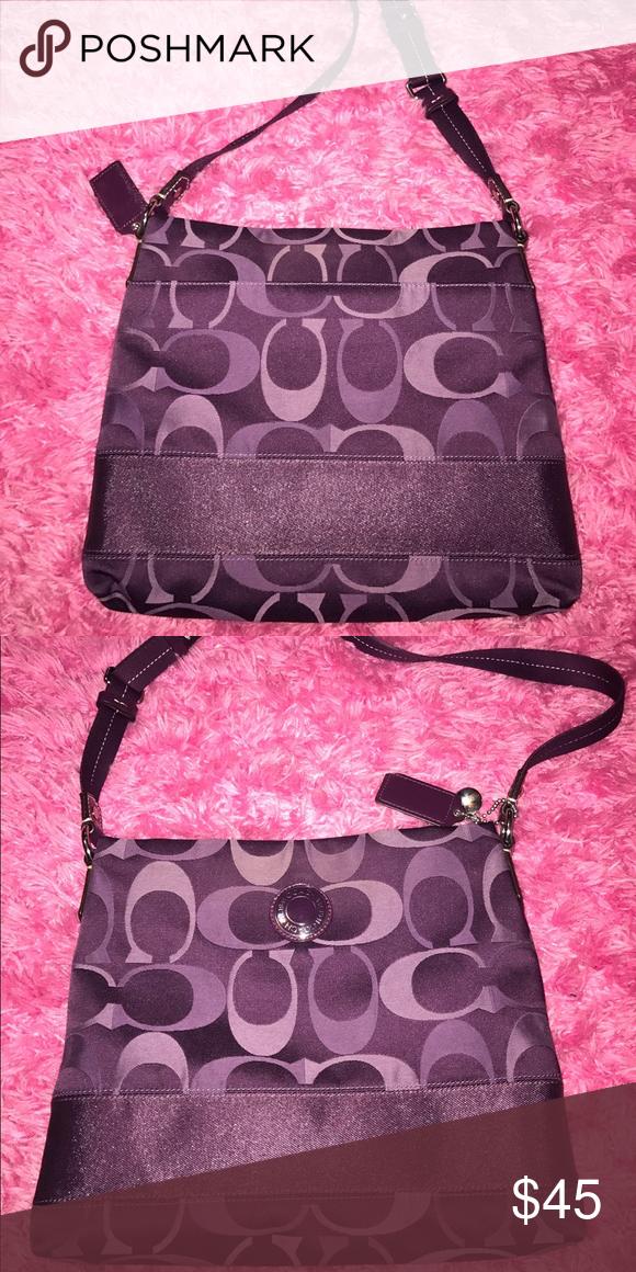 Purple coach purse Purple coach purse Coach Bags Crossbody Bags