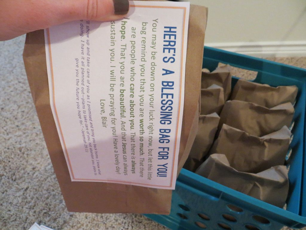 Blessing bags for the homeless this post includes a list