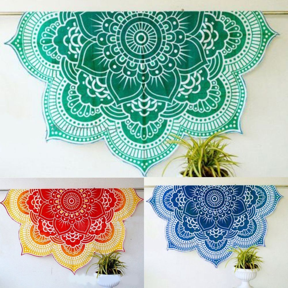 Bohemian Throw Blankets Indian Mandala Round Tapestry Hippie Beach Throw Towel Blanket Yoga