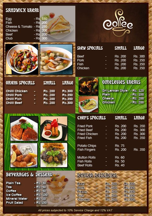 General Restaurant Menu Design Ideas Design Menu