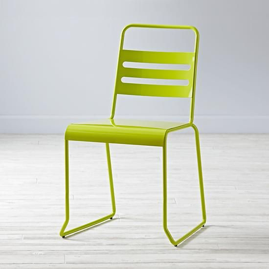 Homeroom Metal Desk Chair (Lime) | The Land Of Nod