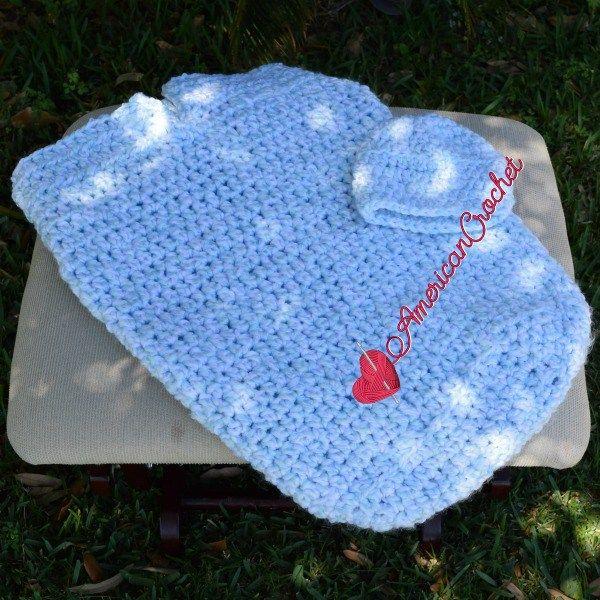 Baby Summer Cocoon Set free crochet pattern   ropita bebe ...
