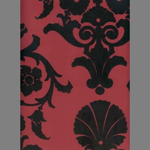 Black Peanut Red Medallion Damask Velvet Flocked Wallpaper Design By Flock Wallpaper Red And Black Wallpaper Red Wallpaper