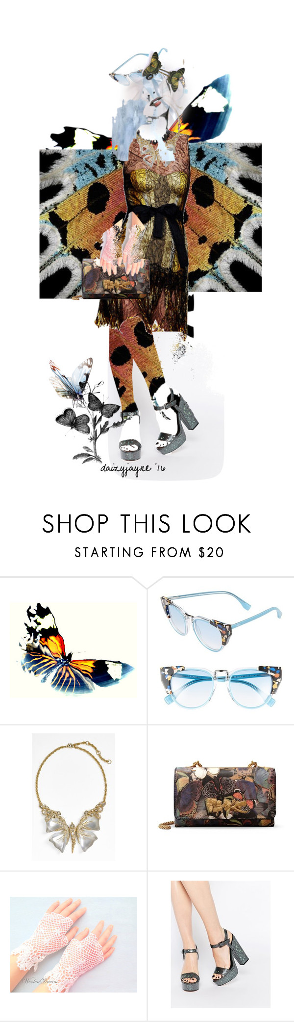 """""""butterfly heaven"""" by daizyjayne ❤ liked on Polyvore featuring Fendi, Bottega Veneta, Alexis Bittar, Valentino, ASOS, contest and butterflywings"""