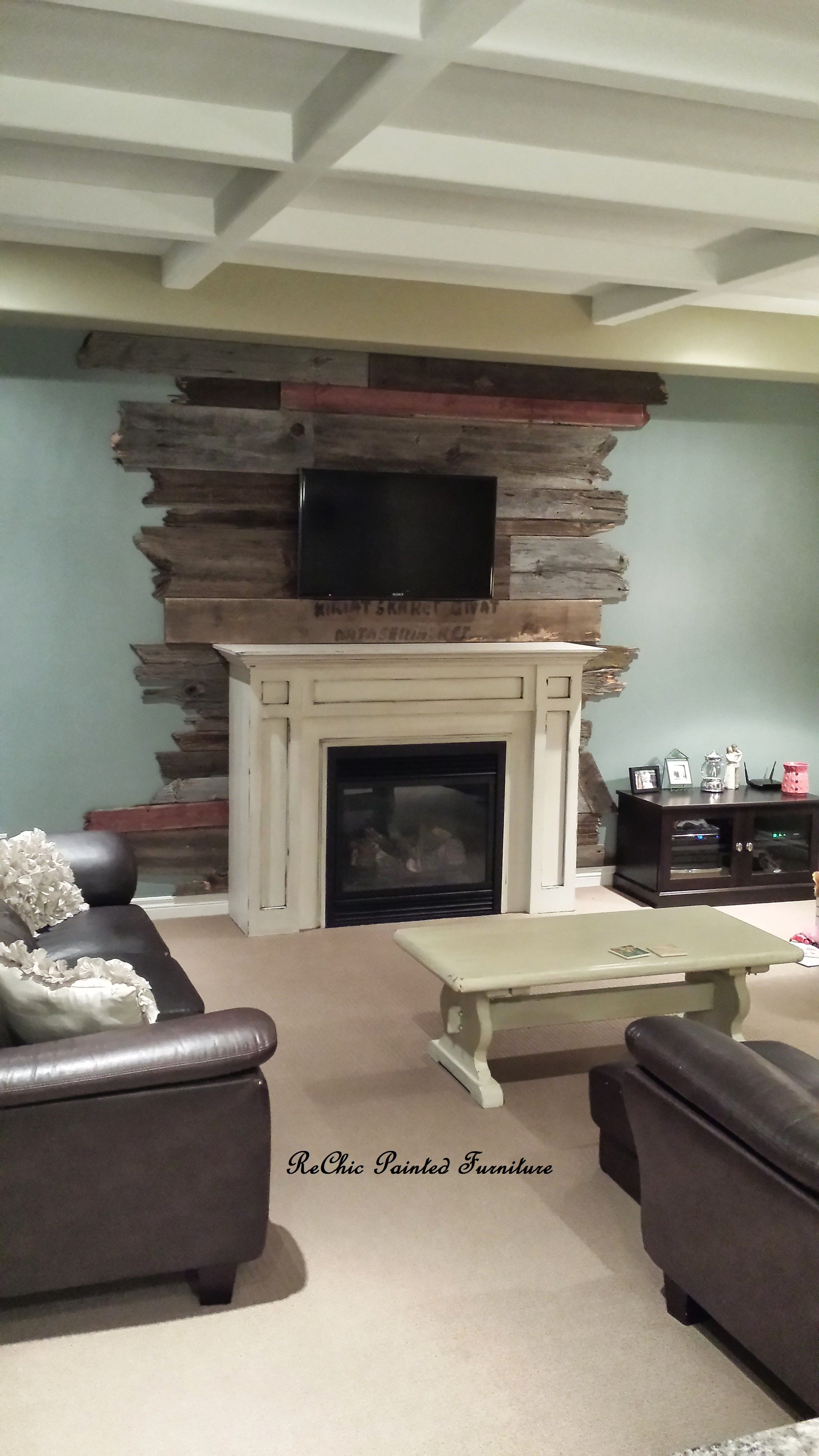 Barn Board Accent Wall Wall Painted In Brewster Grey By