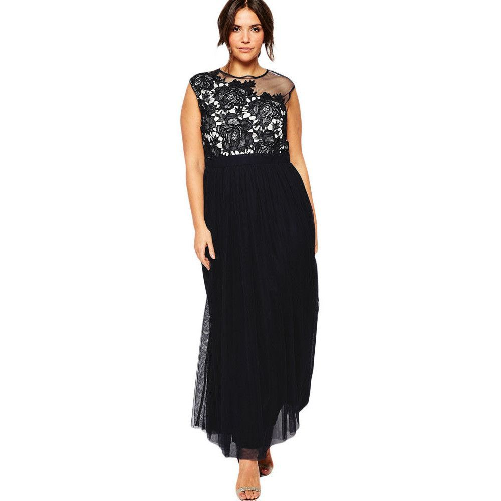 Black floral curvaceous maxi dress laveliq products pinterest