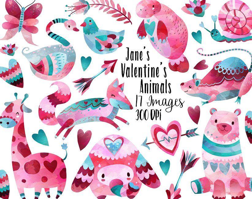 Valentines Day Animals Clipart Animal Valentine Clip Art Valentines