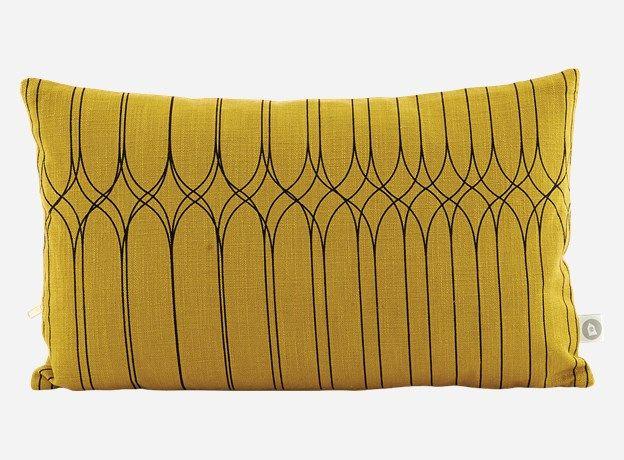 Af0670 - Pudebetræk, Graphic, oliven, 30x50 cm, 100% bomuld