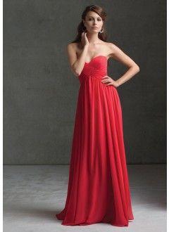 Sheath Sweetheart Floor-length Chiffon Bridesmaid Dress