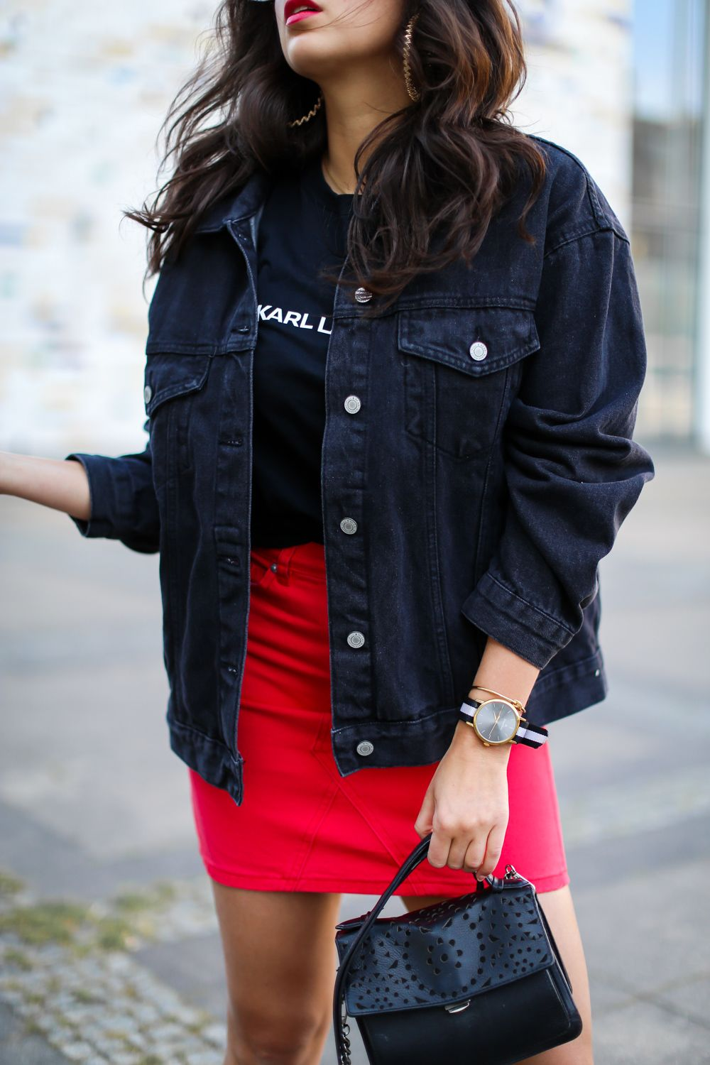 Denim Skirt and Denim Jacket | Outfit, Outfit ideen, Jacken mode