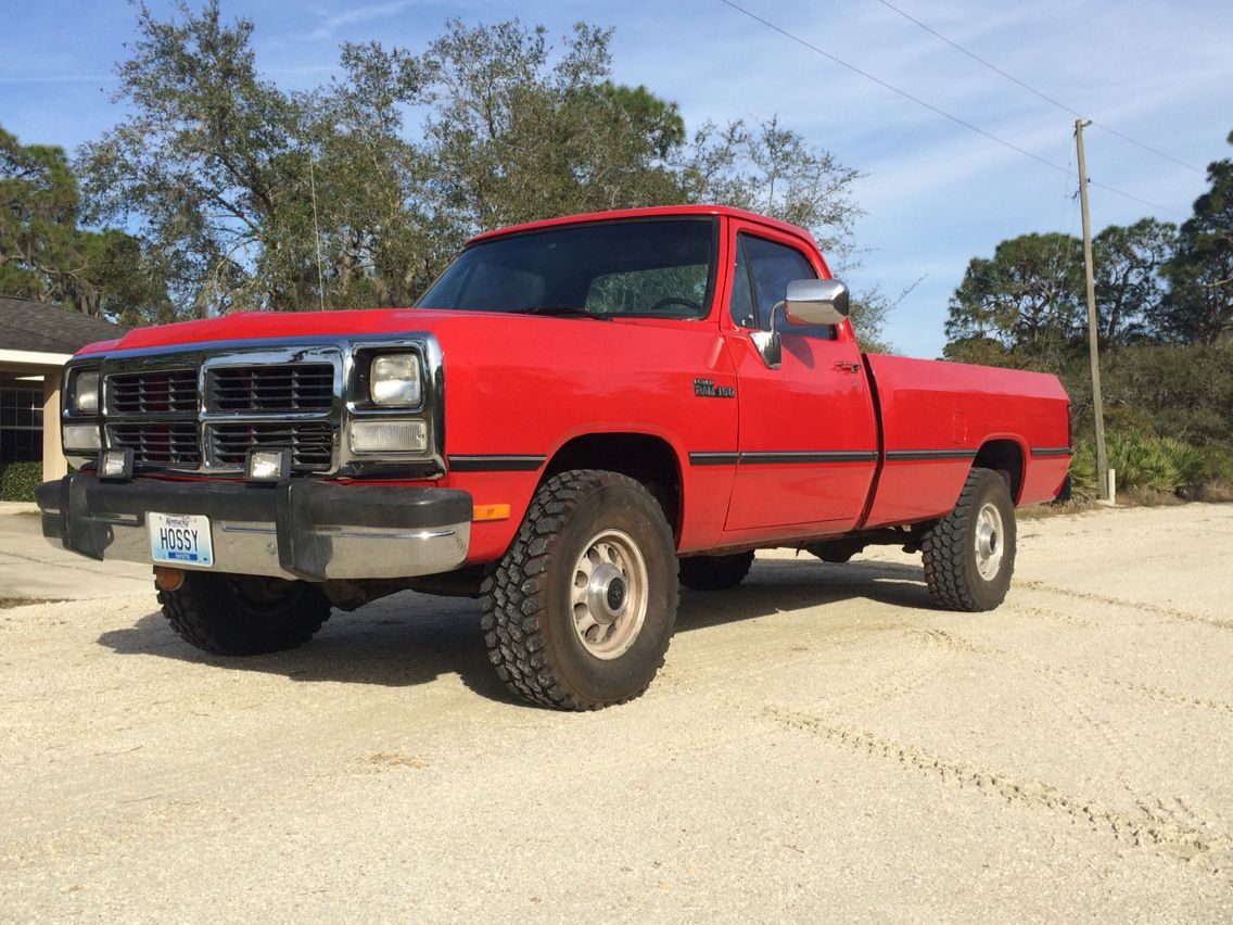 1993 dodge w150 4x4 5 2l fresh out of the the body shop
