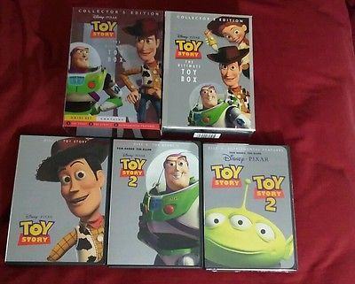 Toy Story The Ultimate Toy Box Collector 39 S Edition Dvd Pixar 3 Disc Set Blu Ray Discs Toy Story Pixar