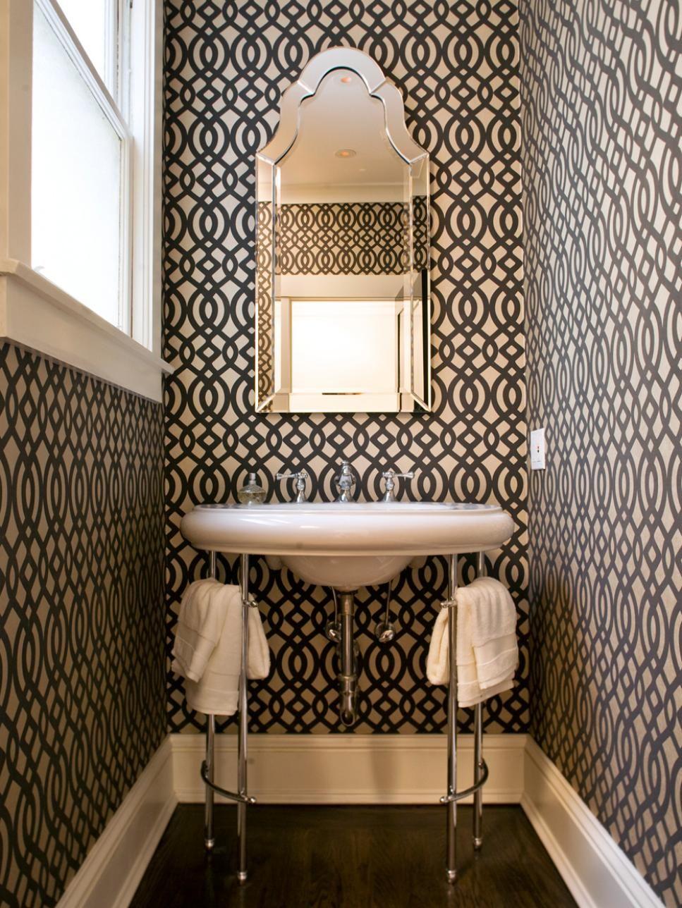 Images On Arabesque Tiles Limestone Tops Kohler Kathryn sink brass worldmarket mirror Jessica Conner Design u Interiors Pinterest Arabesque P u