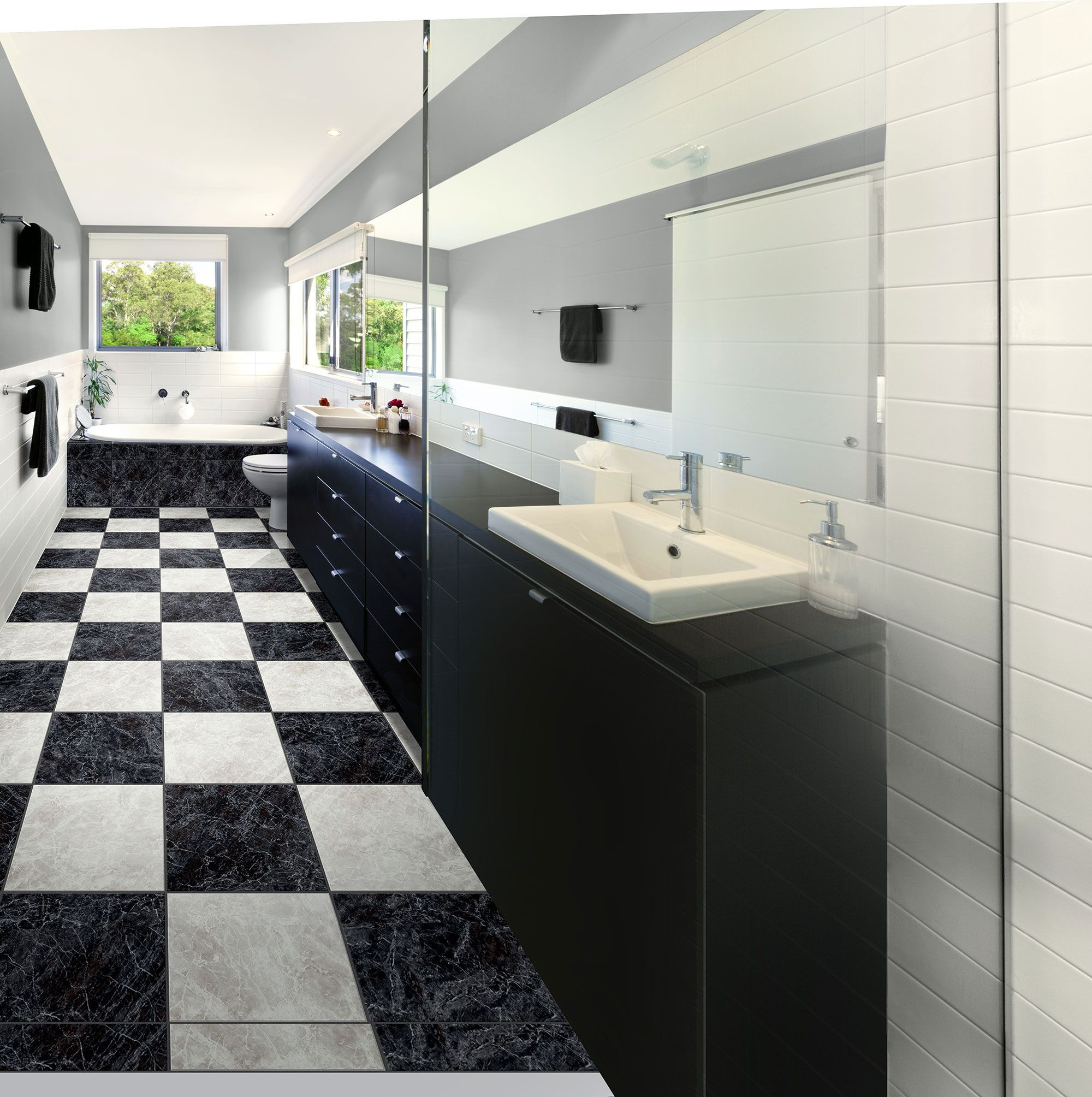 Midnight elegance learn more at olsonrug duraceramic tile with the look of real ceramic luxury vinyl tile has become extremely popular see all the latest lvt fashions at our chicago flooring store locations doublecrazyfo Images