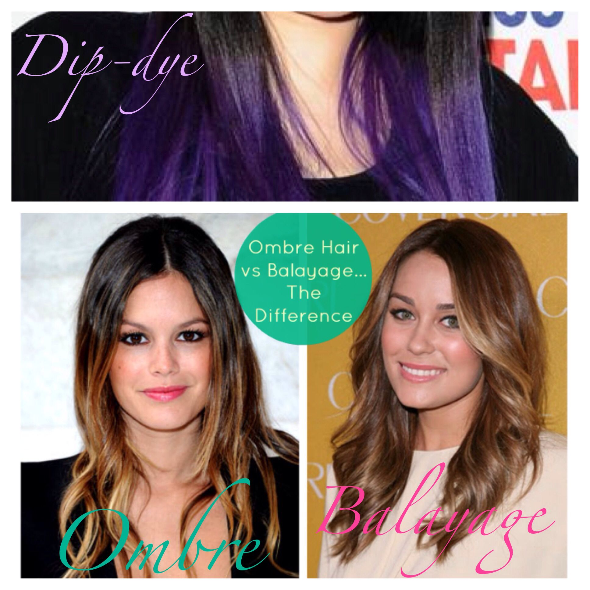 There Is A Difference Between A Dip Dye Ombre And Balayage A Dip Dye Is Typically Just Block Color On The End Hair Job Medium Length Hair Styles Hair Beauty
