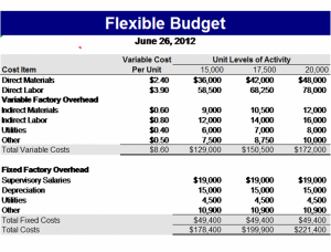 Flexible Manufacturer Budget Template It Is Mostly Used By