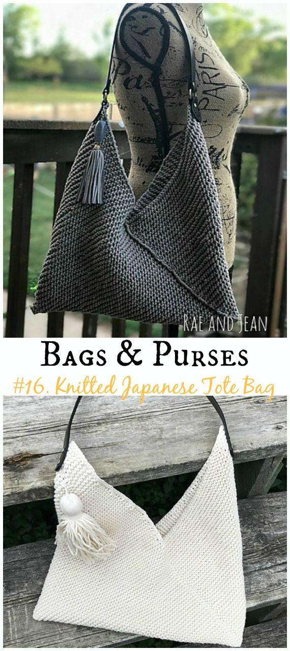 Bags & Purses Free Knitting Patterns | DIY Bags | Pinterest