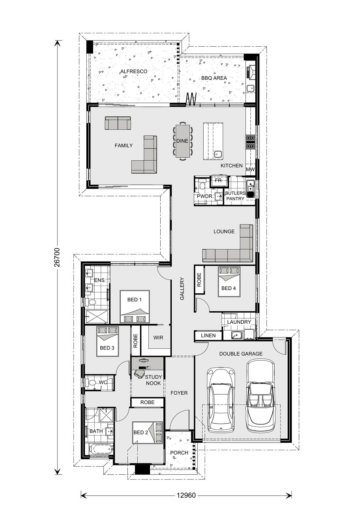 Floor Plan Model House Plan Narrow House Plans House Floor Plans