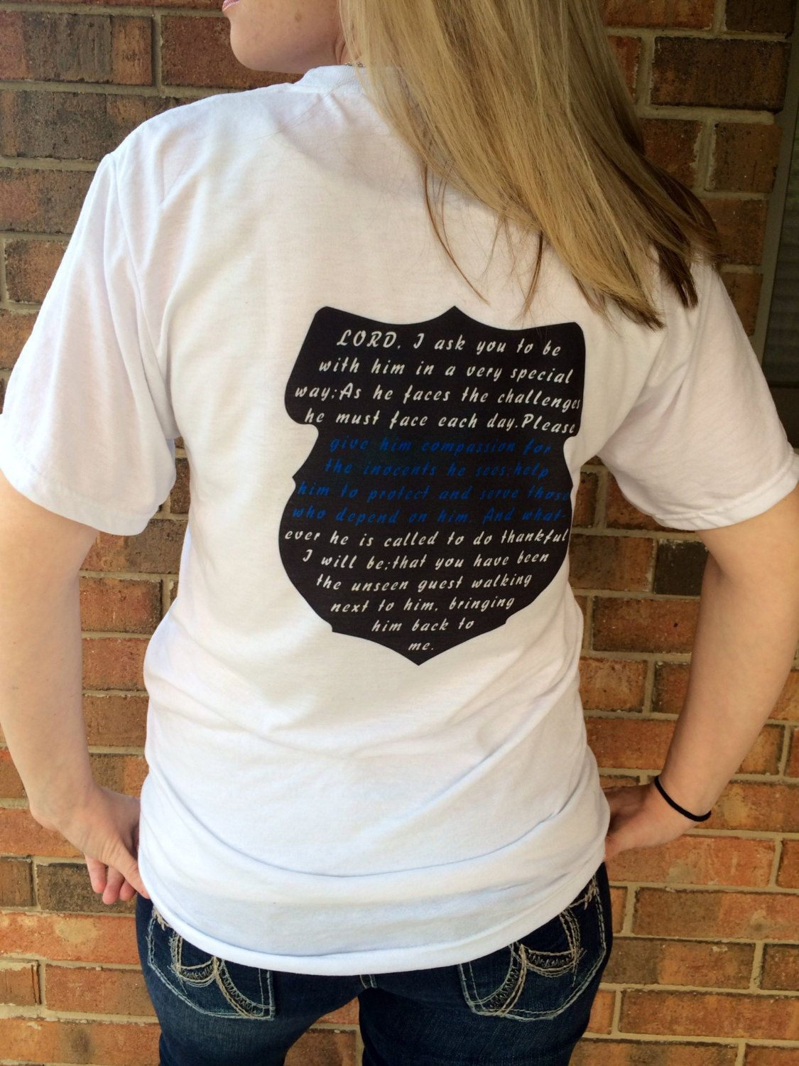 Police Wife Clothing by BadgeWear1027 on Etsy, $18.00