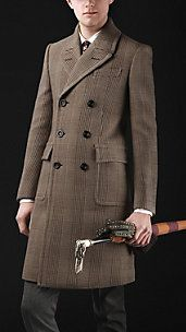 Burberry Mens Fashion Chesterfield Brown Coat