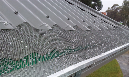 Gutter Leaf Screens Are A Mesh That Stretches From The