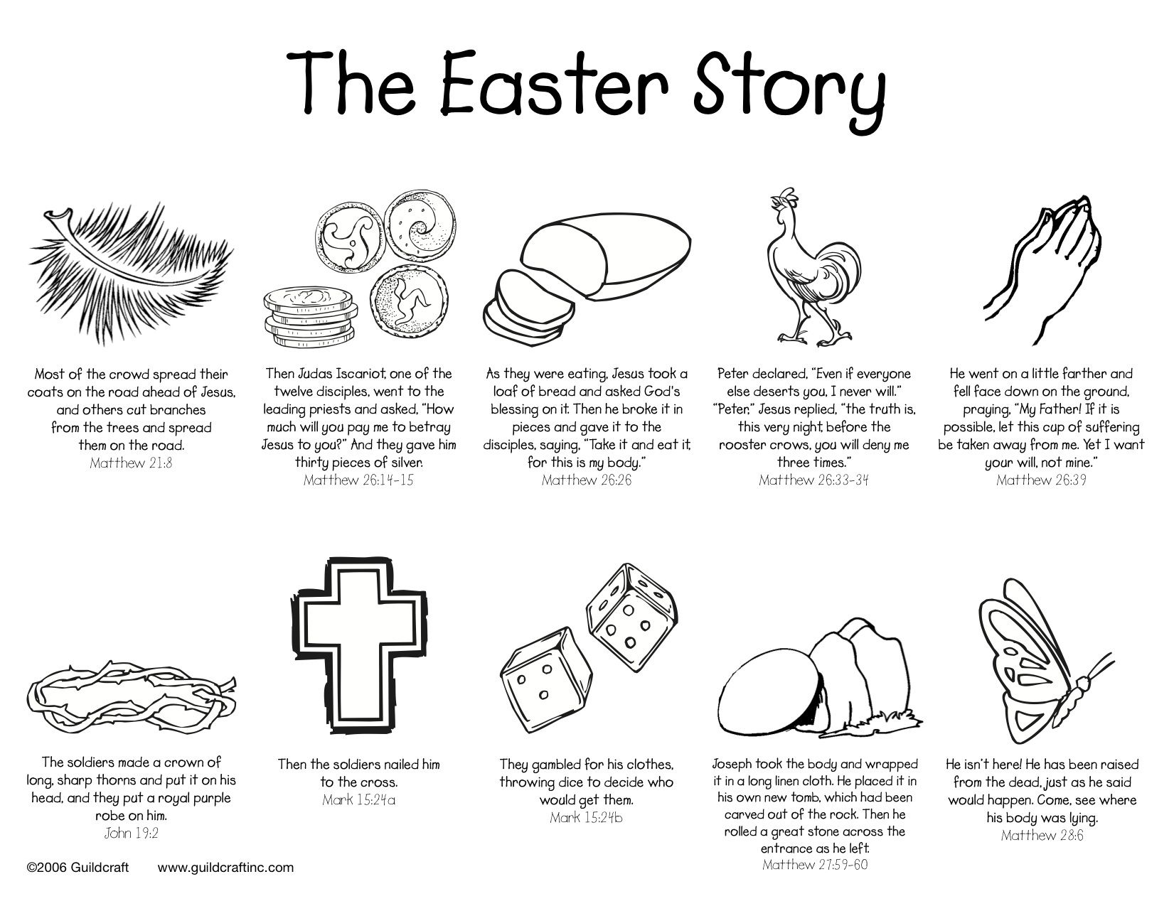 The Easter Story Printable W O Images Of Christ Easter Sunday School Easter Sunday School Crafts Easter Lessons