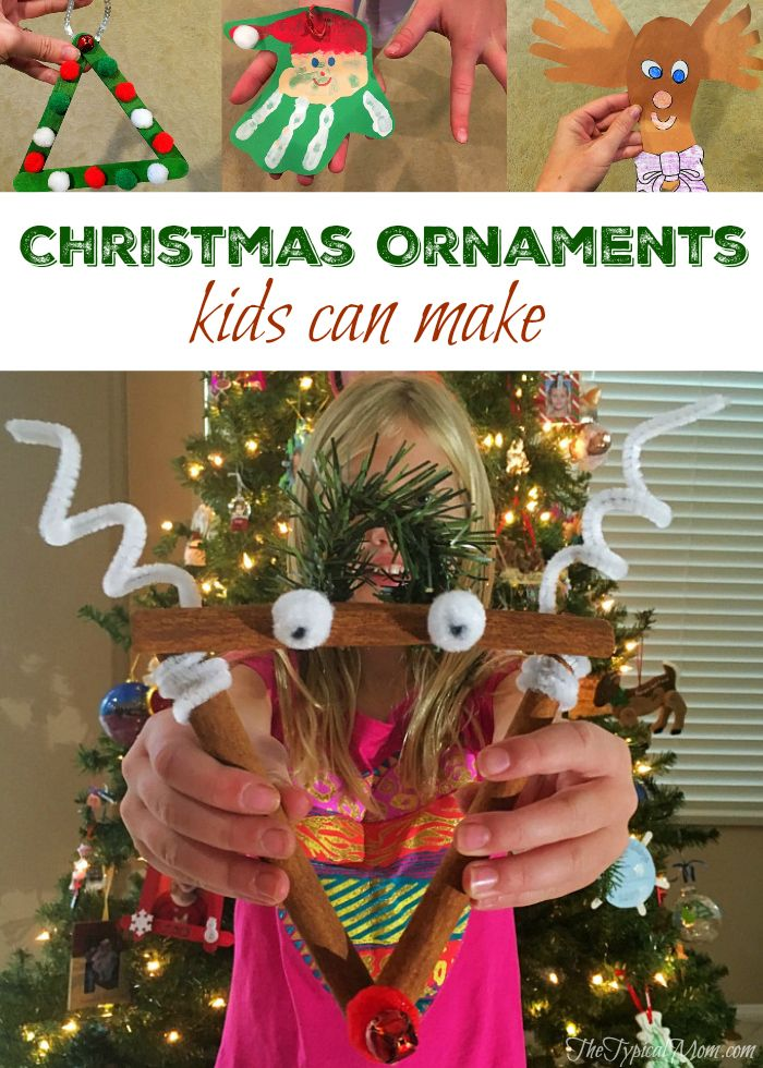 Christmas ornaments kids can make that are inexpensive and easy to