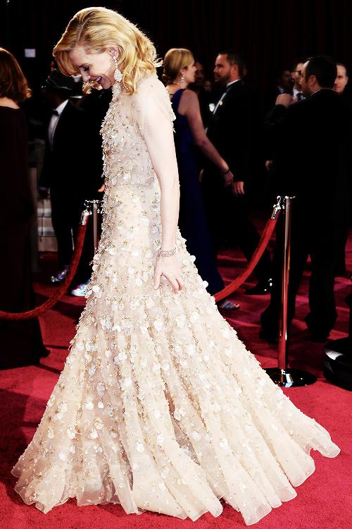 Cate Blanchett, by Frazer Harisson, Oscars Ceremony 2014