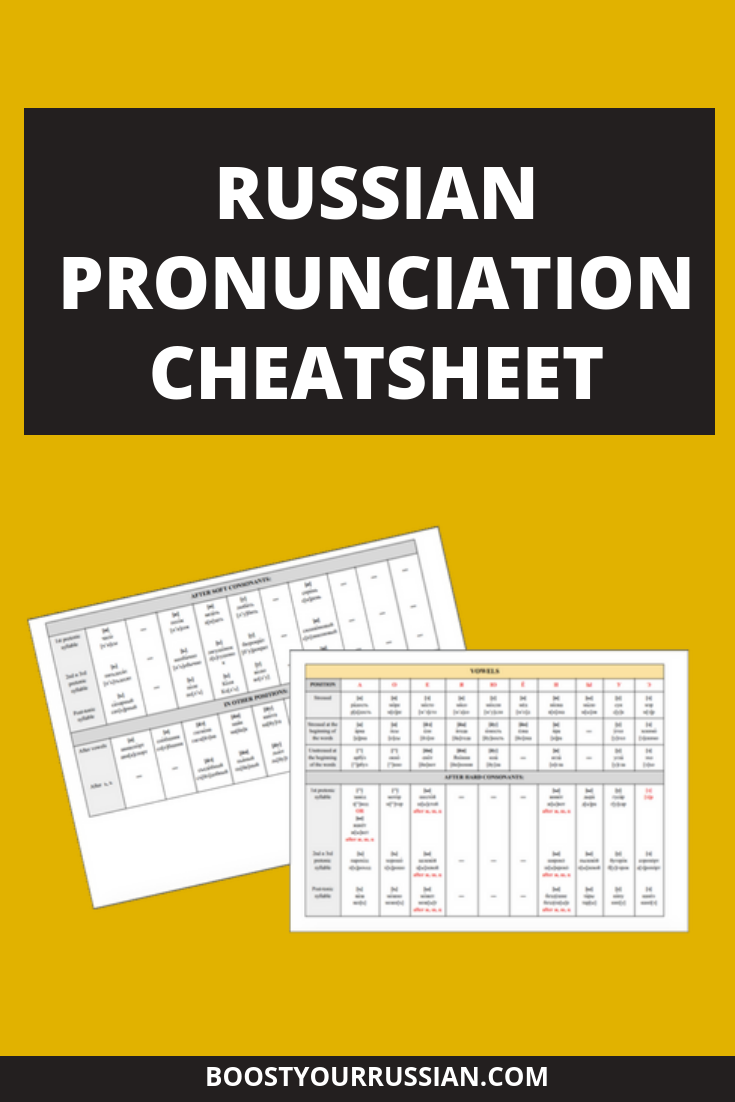 Free Russian pronunciation cheat sheet  Download it now to