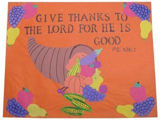 Art Education Daily: A Thanksgiving Bulletin Board for Sunday School #novemberbulletinboards Art Education Daily: A Thanksgiving Bulletin Board for Sunday School #novemberbulletinboards